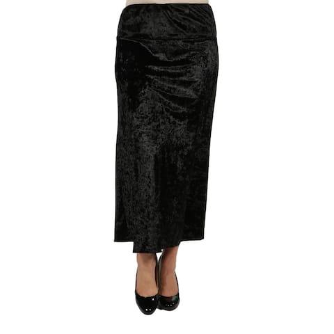 24/7 Comfort Apparel Jazz Velvet Plus Size Skirt