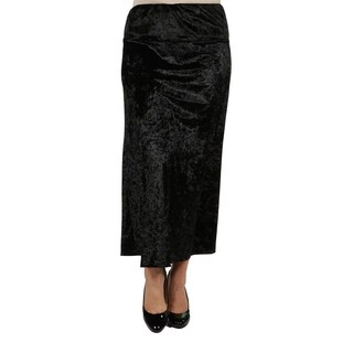 24/7 Comfort Apparel Jazz Velvet Plus Size Skirt