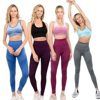 Women'S Active Shadow Stripe Full Length Leggings