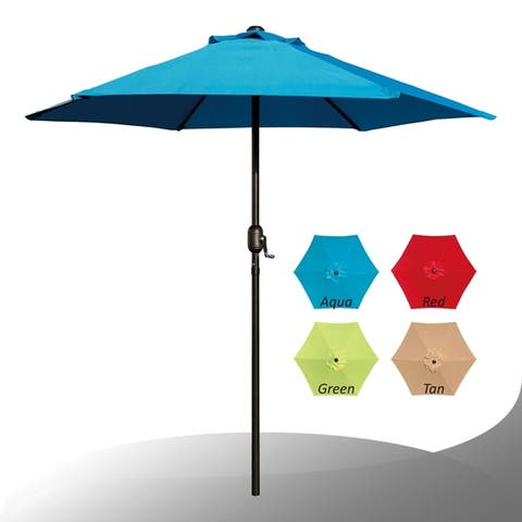Maypex 7.5 Feet Crank Market Umbrella