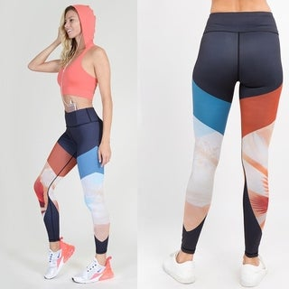 Lady'S Majestic Mountains Print Active Leggings 002