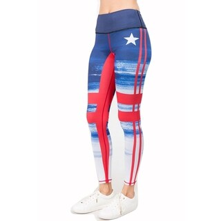 Lady'S Majestic Mountains Print Active Leggings 005