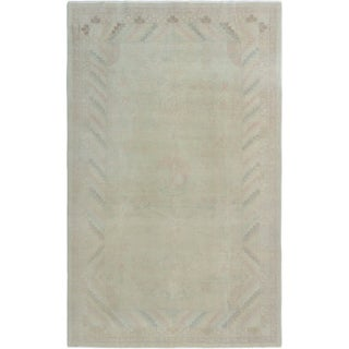 ECARPETGALLERY  Hand-knotted Color Transition Khaki Wool Rug - 5'10 x 9'3