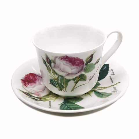 Roy Kirkham Teacup and Saucer (230 ml) Set of 6 - Redoute Rose