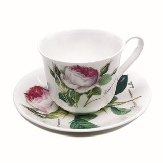 Roy Kirkham Teacup and Saucer (230 ml) Set of 2 - Redoute Rose