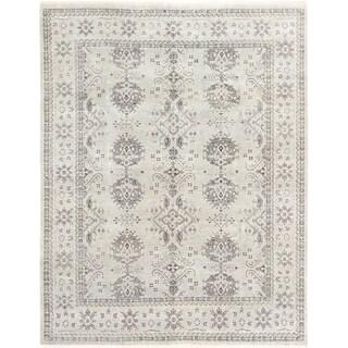 ECARPETGALLERY  Hand-knotted Shalimar Light Grey Wool Rug - 8'0 x 10'0