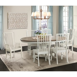 Picket House Furnishings Cayman 7PC Dining Set-Table, Four Side Chairs & Two Windsor Chairs