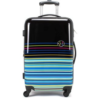 "Maui and Sons Stripes Expandable Hardside Spinner Luggage, TSA lock, 20"""