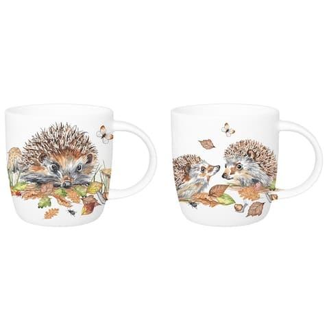 Roy Kirkham Mugs (Set of 6) - Hedgehogs, Sophie shape