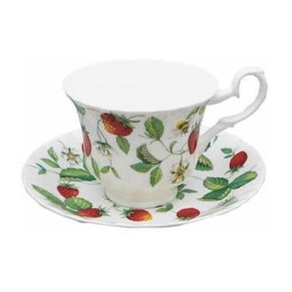 Roy Kirkham Teacup and Saucer (230 ml) Set of 2 - Alpine Strawberry