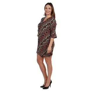 24/7 Comfort Apparel Plus Size Luxury Sweater Knit Dress