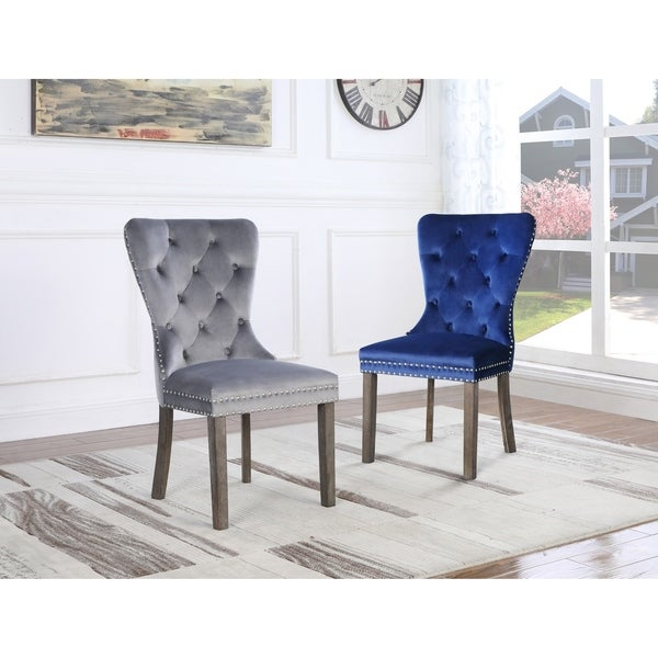 Best Quality Furniture Tufted Velvet Dining Chairs (Set of 2). Opens flyout.