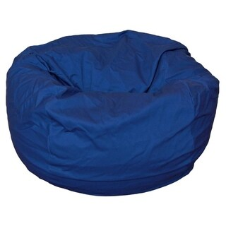 Ahh! Products - 36 Inch Wide Washable Bean Bag Chair - Blue Cotton