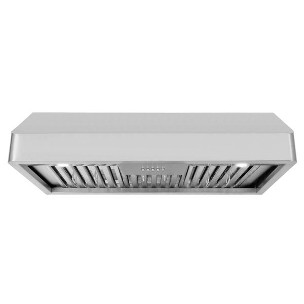 Cosmo 36 in. Ducted Under Cabinet Range Hood in Stainless Steel with Push Button Controls, LED Lighting and Permanent Filters