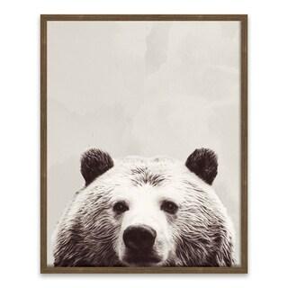 """Friendly Bear"" Recessed Box - 16W x 20H x 1.25D - Multi-color"