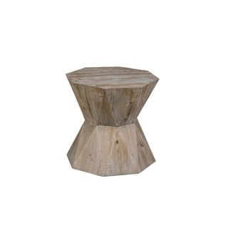 Euclidean Hourglass End Table