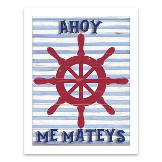 """""""Ahoy Me Mateys"""" Shadowbox - 14W x 18H x 1.21D - Multi-color"""