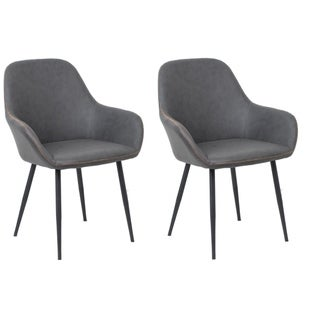 Link to Bucket Style Upholstered Dining Chairs, Set of 2 pack, Dark Grey Similar Items in Dining Room & Bar Furniture