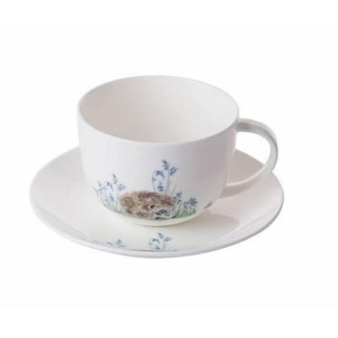Roy Kirkham Breakfast Cups & Saucers - Hedgehog (Set of 2)