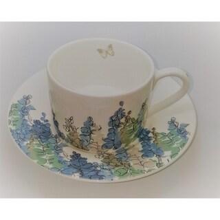 Roy Kirkham Teacup and Saucer (230 ml) Set of 2 - Fairfield Blue