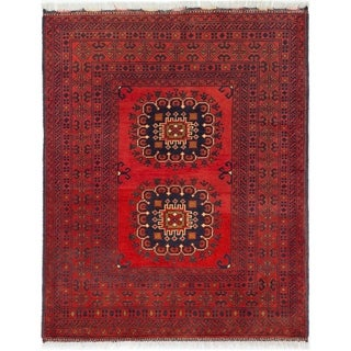 ECARPETGALLERY Hand-knotted Finest Kargahi Dark Copper Wool Rug