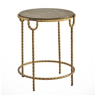 Cateline Iron and Stone End Table