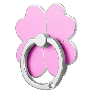 Four-Leaf Clover Universal Metallic Ring Stand With Adhesive Back