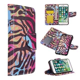Iphone 8 / 7 / 6 Plus Detachable Trndy Series Leather Flip Wallet Case