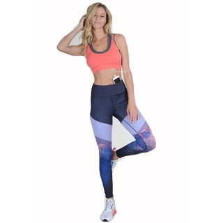 Lady'S Majestic Mountains Print Active Leggings 001