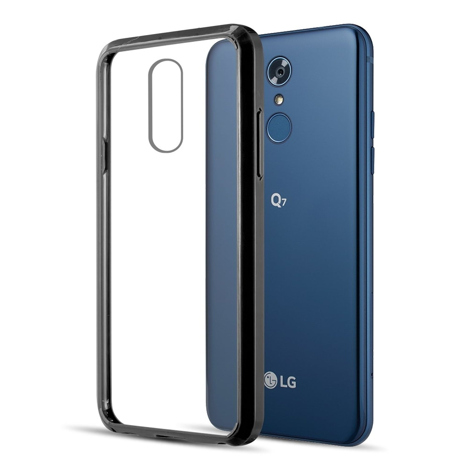Lg Q7 / Lg Q7+ Fusion Candy Tpu With Clear Acrylic Back Case