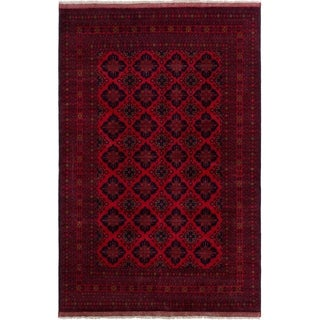 ECARPETGALLERY  Hand-knotted Finest Khal Mohammadi Red Wool Rug - 6'5 x 9'10