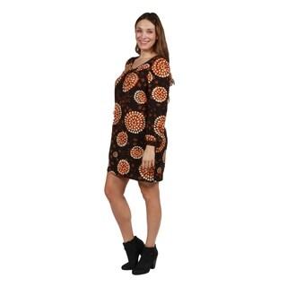 24/7 Comfort Apparel Plus Size Sweater Knit Dress
