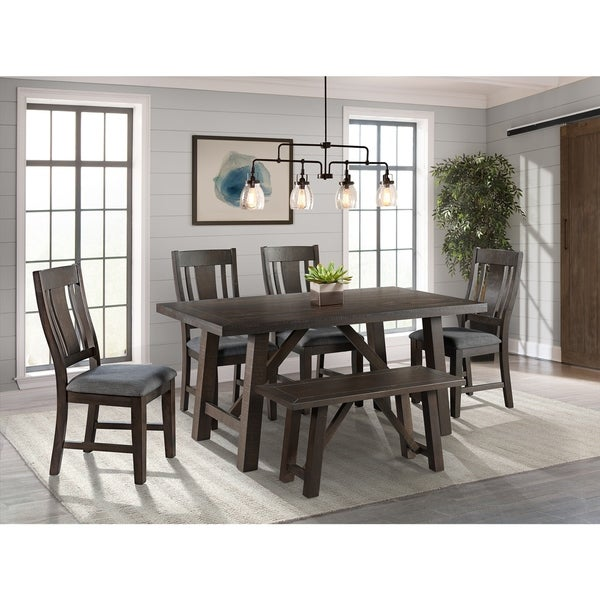 Shop Picket House Furnishings Carter 6pc Dining Set Table Four Chairs Amp Bench On Sale