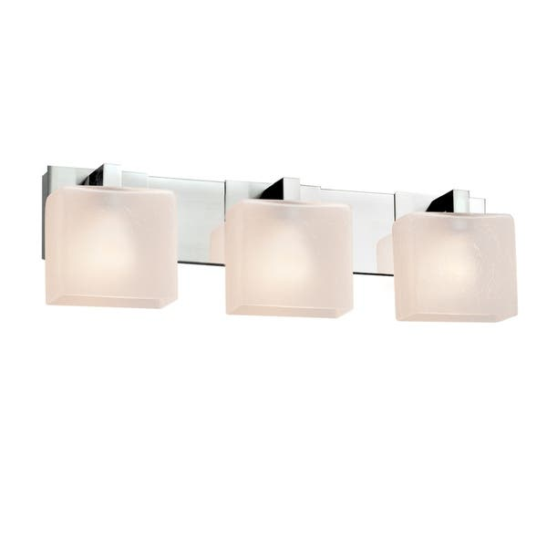 "Justice Design Group Fusion 27/"" Modular 3 Light Vanity Light"