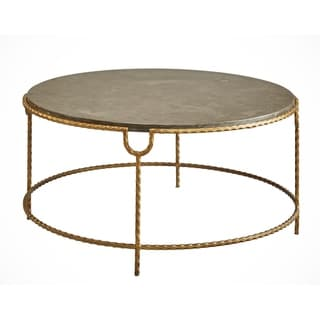 Cateline Iron and Stone Coffee Table