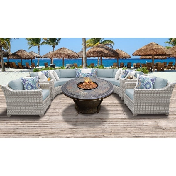 Fairmont Patio Furniture.Shop Fairmont 8 Piece Outdoor Wicker Patio Furniture Set 08h Free