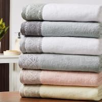 Amrapur Overseas 6-Piece Towel Set With Lace Hem