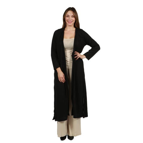 24/7 Comfort Apparel Trendsetter Full Length Open Front Plus Size Cardigan