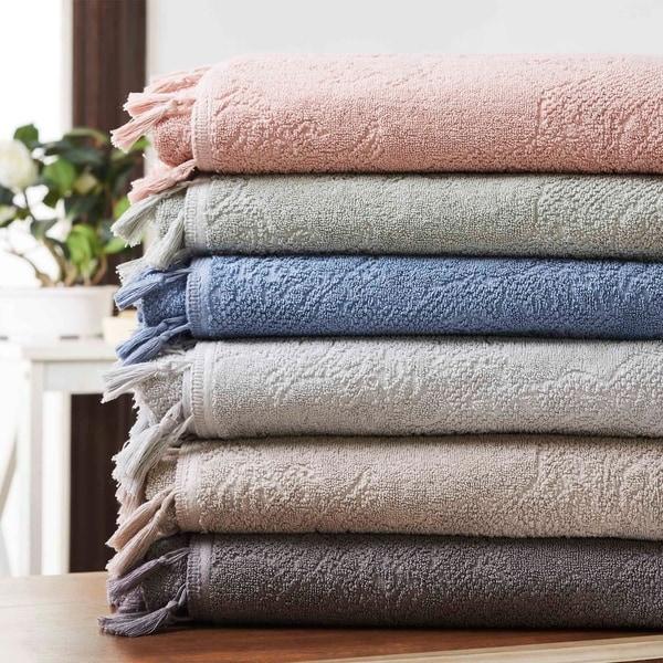 Amrapur Overseas 6-Piece Jacquard Towel Set With Tassels
