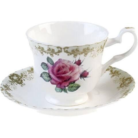 Roy Kirkham Teacup and Saucer (230 ml) Set of 6 - Vintage Roses