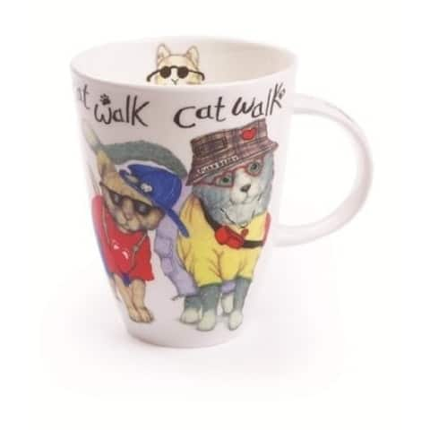 Roy Kirkham Mugs (Set of 6) - Animal Fashion Cat Walk, Louise Shape