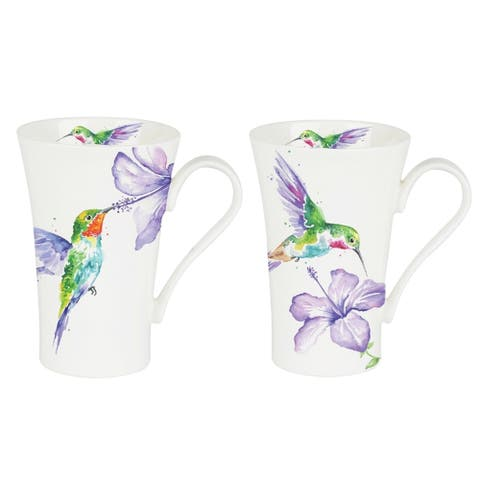 Roy Kirkham Latte Mugs (Set of 6) - Humming Birds 600ml