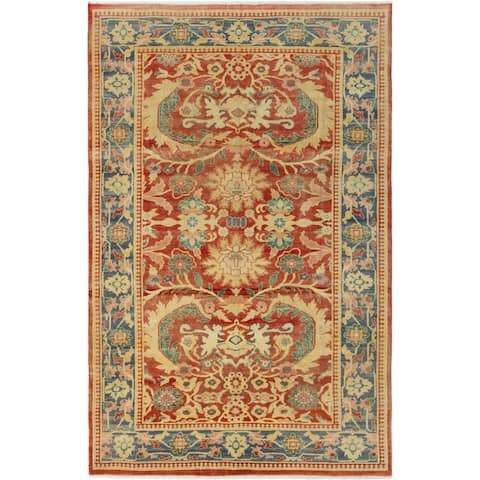 Hand-knotted Keisari Copper Wool Rug