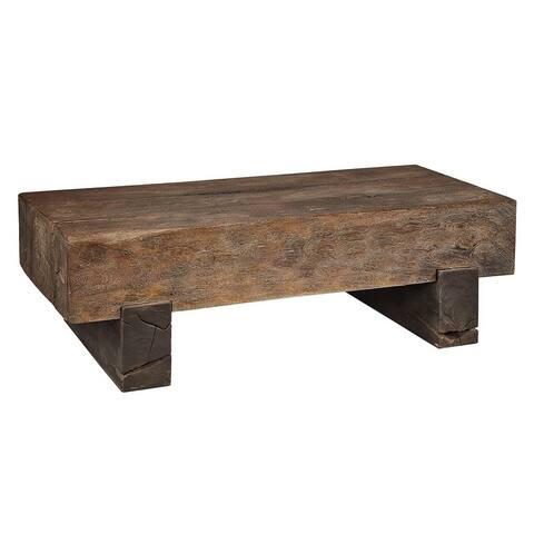 Sloane Elliot Locomotif Reclaimed Wood Rustic Coffee Table