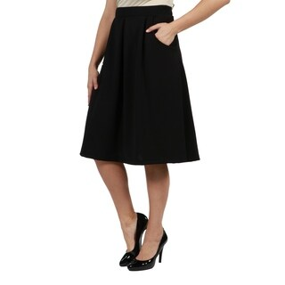 24/7 Comfort Apparel Symphony Plus Size Skirt