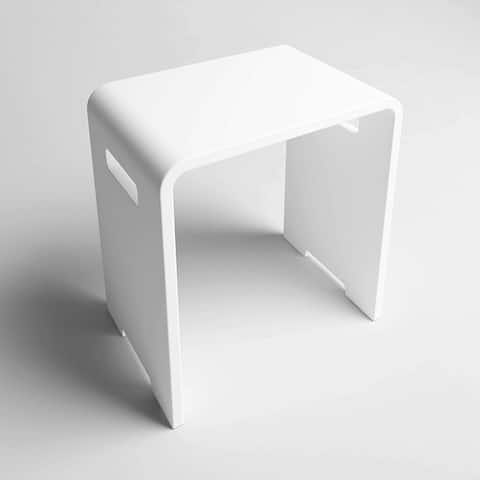 CS302 Solid Surface Vanity Seat - Matte White