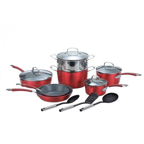 Momscook Passion Ceramic Nonstick 14-Piece Cookware Set