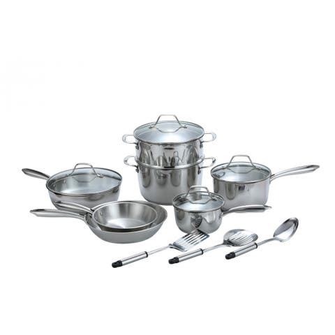 Momscook Professional Stainless Steel 14-Piece Cookware Set
