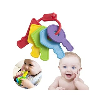 INNOKA FDA Approved BPA Free Baby Teether Toys Keys with microbeFENCE Technology for 3 Months+