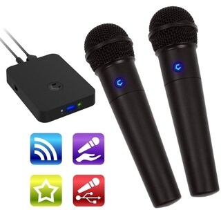 Cobble Pro Portable & Sing Anywhere Karaoke System w/ Source Vocal Removal Technology Wireless Microphones